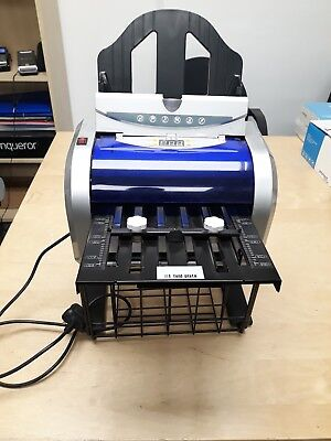 Paper Folding Machine A4 leaflet machine perfect working order used 3 times only