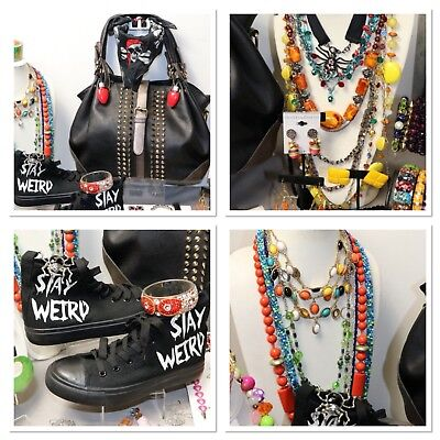 Halloween Inspired Grab Bag Purse, Shoes, Jewelry, More Lot, Fun Scary, Weird