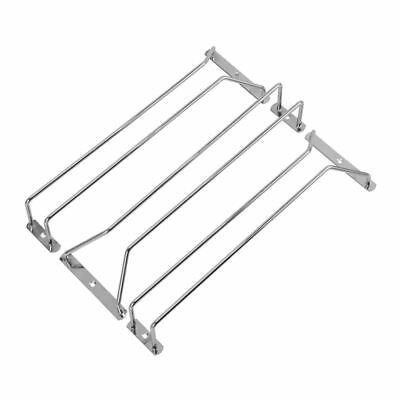 3pcs Wine Rack Glass Holder Hanging Bar Hanger stainless steel Shelf with 6 X2E7