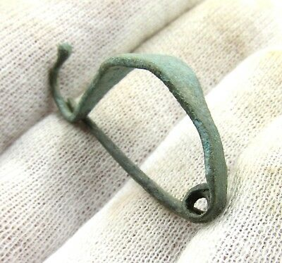 Authentic Ancient Celtic Bronze La Tene Brooch - H28