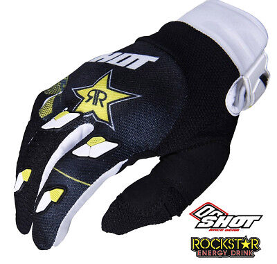 2019 Shot Rockstar Energy Husqvarna Factory Racing 3.0 Replica Motocross Gloves