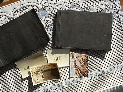 Antique Circa 1920's Lot of 2 Western Vacation Photo Albums with 112 Photos
