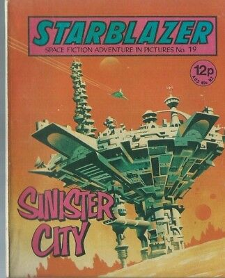 Sinister City,no.19,starblazer Space Fiction Adventure In Pictures,comic