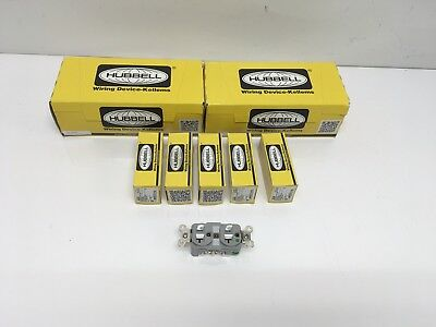 25 NEW Unopened Hubbell HBL8300GY Duplex Receptacle Outlet 20A 125V 2Pole 3Wire