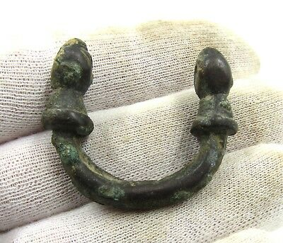 Authentic Ancient Roman Bronze Legionary Handle - H38