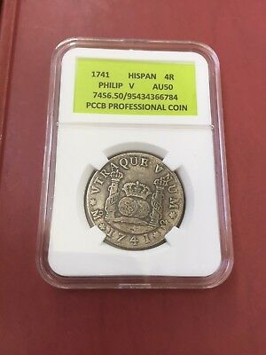 coin 4 real 1741 Phillip 5 Spain