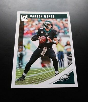 Carson Wentz Philadelphia Eagles #227 Panini Donruss 2018 NFL Football Card