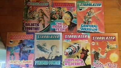 7 X Starblazer Space Fiction Adventure In Pictures,comic,no.25,52,53,57,58,63,66