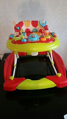 Baby Activity Walker Walking Rocking 2 In 1 Music sound Detachable Tray