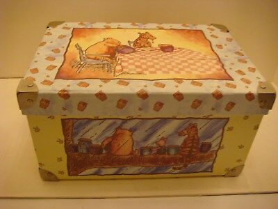 Rare Vtg Classic Winnie The Pooh Large Storage Box With Brass Corners & Handles