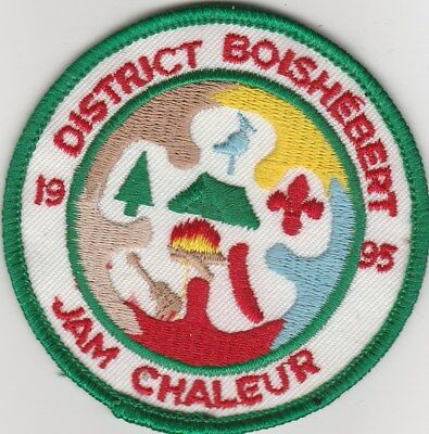 "District Boishebert 1995 Jam Chaleur 3"" Patch Nice To Collect"