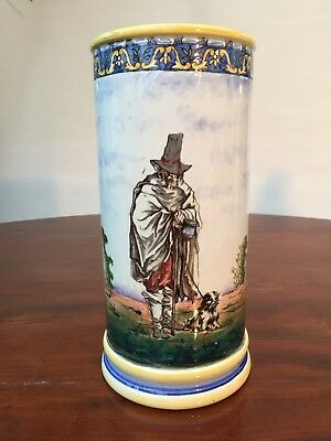 Late 19Th Century Gien French Faience Hand Painted Vase
