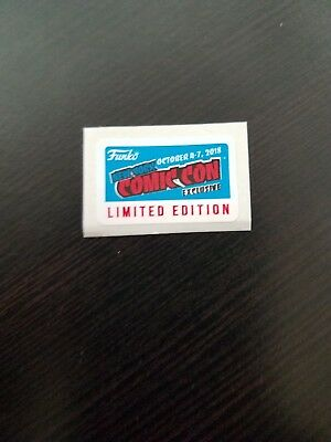 Pop Vinyl 2018 New York Comic Convention Nycc Limited Edition Exclusive Sticker