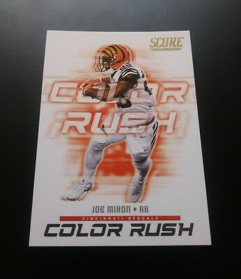 Joe Mixon Cincinnati Bengals Color Rush #17 Panini Score 2018 NFL Football Card