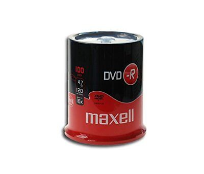 Maxell DVD-R 16x 4.7 GB Rohlinge in 100er cakebox TOP