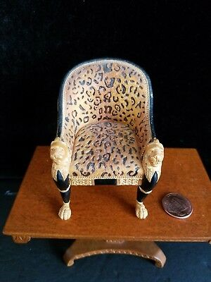 Dollhouse Miniatures Willitts Take A Seat By Raine Regency Leopard Chair 1:12