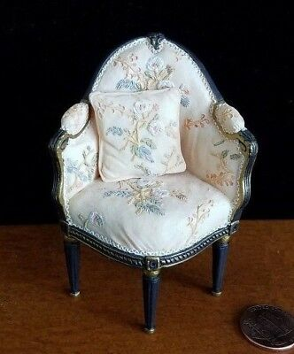 Dollhouse Miniatures Willitts Take A Seat By Raine Chair Corner W Pillow 1:12