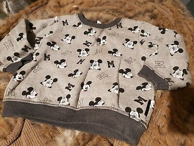boys 18-24 months sweatshirt jumper top mickey mouse winter clothes next day