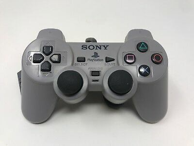 Official OEM Sony Playstation 1 PS1 Dual Shock Analog Controller Gray SCPH-1200