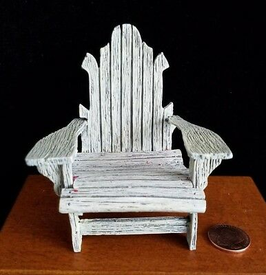 Dollhouse Miniatures Willitts Take A Seat By Raine Adirondack Chair 1:12