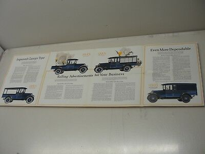 VINTAGE 1920's 1930's DODGE BROTHERS TRUCK SALES BROCHURE FOLD OUT