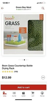 Boon - Countertop Bottle Sippy Cup Drying Rack, Green Grass - GUC