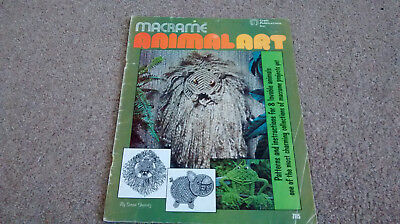 Macrame Animal 1976 - Craft Publications Inc.booklet, frog,pig, cat,lion FREEPOS