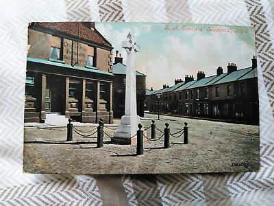 BLYTH South African Soldiers War Memorial 1907 Postcard - THE OLD POST OFFICE