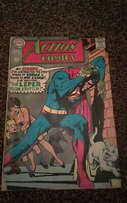 ACTION COMICS #363 MAY 1968 SUPERMAN THE LEPER FROM KRYPTON SILVER AGE .99p star