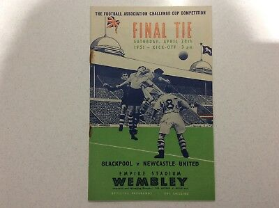 1951 FA Cup Final Programme - Blackpool v Newcastle United - Wembley