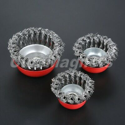 2.5-4inch Steel Wire Cup Brush Grinder Rust Removal Wheel Twisted Knot M14