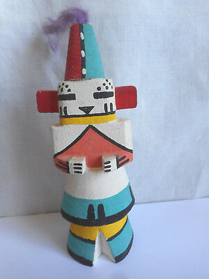 Vintage Hopi Kachina Doll 1950's 1960's One Horn Rt 66 Native American Indian