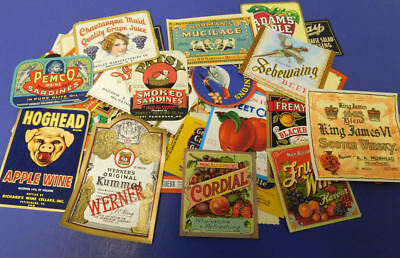 50 Different Vintage Small Advertising Labels...All Nice....