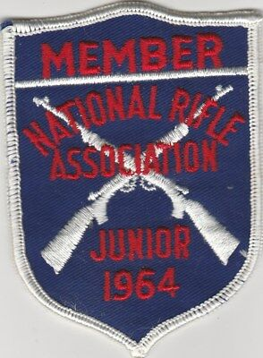 "National Rifle Association Junior 1964 4"" x 2.75"" Patch As N O S Hard To Find"