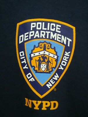 Mens Medium NYPD New York City Police Department T Shirt