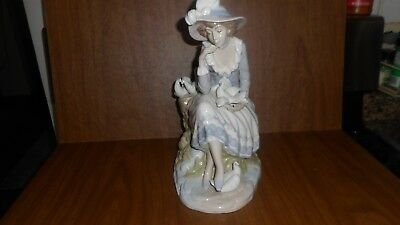 Nadal Hand Crafted Lady With Doves  Bird Lady Spain