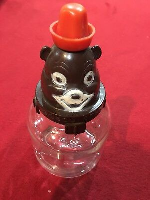 Vintage Bosco Bank Glass Brown Bear Original Syrup Jar Bottle