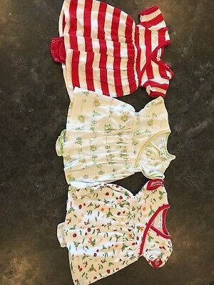 3 UNDER THE NILE 6-9M Organic Body Suits One Piece Cotton