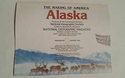 National Geographic Mag -supplement map alaska  usa    - free post