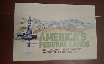 National Geographic Magazine -supplement map america's federal lands - free post