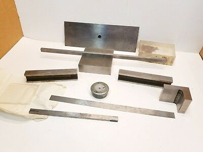 Lot Machinist tools Blocks, Parallels Bars, Angle Plate Lathe Mill Tool Makers
