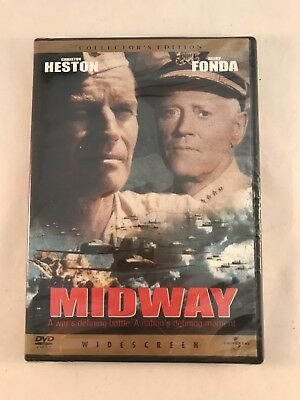 Brand New Sealed Midway (DVD, 2001, Collectors Edition) Charl Heston Henry Fonda