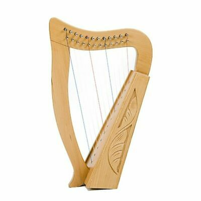 Celtic Baby Harp 12 string Carved with Bag
