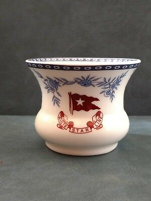 RMS Titanic Authentic Reproduction Dish Vase Cup White Star Line