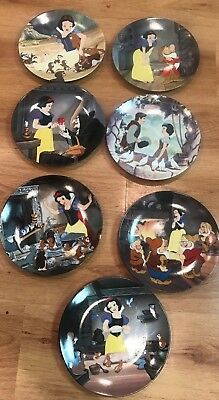 Lot of 7 Snow White and the 7 Dwarfs Knowles Collector Plates