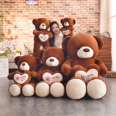 Giant Huge Big Dark Brown Teddy Bear Plush Soft Toys Doll Birthday Gift 60/80cm