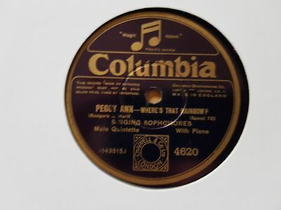 Singing Sophomores - Sometimes I'm happy/ Hallelujah/ Peggy Ann Schellack 78 rpm