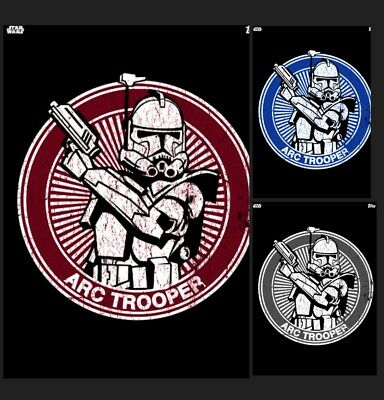Arc Trooper-Clone Wars Badges-White/blue/red-Topps Star Wars Card Trader