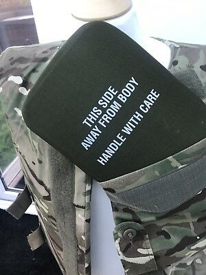 British Army MTP Body Armour Plates and Vest Olive Green Filler