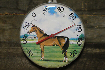 Vintage Jumbo Dial TCR Horse Thermometer